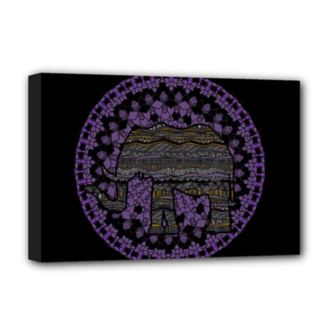 Ornate mandala elephant  Deluxe Canvas 18  x 12