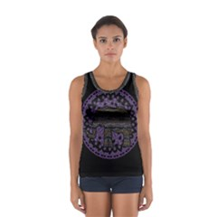 Ornate mandala elephant  Women s Sport Tank Top