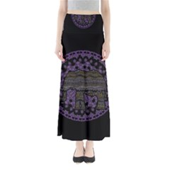Ornate mandala elephant  Full Length Maxi Skirt
