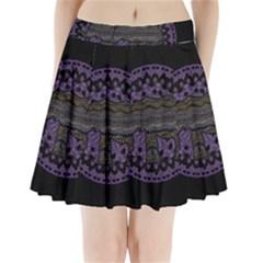 Ornate mandala elephant  Pleated Mini Skirt
