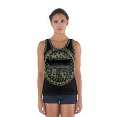 Ornate mandala elephant  Women s Sport Tank Top