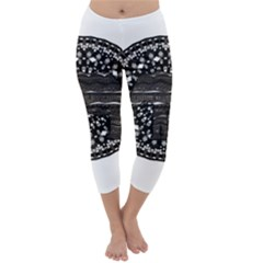 Ornate mandala elephant  Capri Winter Leggings