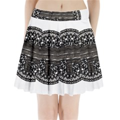 Ornate mandala elephant  Pleated Mini Skirt