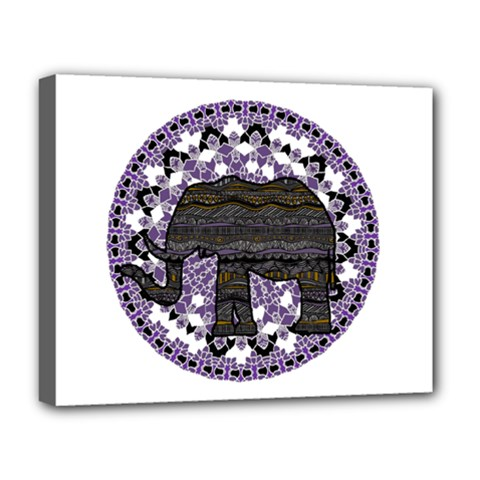 Ornate mandala elephant  Deluxe Canvas 20  x 16