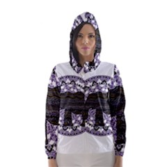 Ornate mandala elephant  Hooded Wind Breaker (Women)