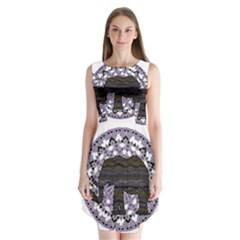 Ornate mandala elephant  Sleeveless Chiffon Dress