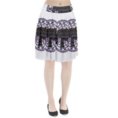 Ornate mandala elephant  Pleated Skirt