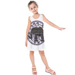 Ornate mandala elephant  Kids  Sleeveless Dress