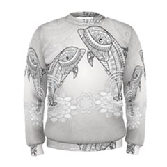 Beautiful Dolphin, Mandala Design Men s Sweatshirt