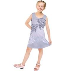 Beautiful Dolphin, Mandala Design Kids  Tunic Dress