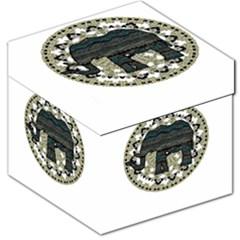 Ornate mandala elephant  Storage Stool 12