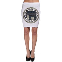 Ornate mandala elephant  Bodycon Skirt