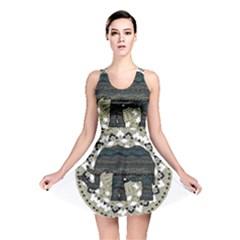 Ornate mandala elephant  Reversible Skater Dress
