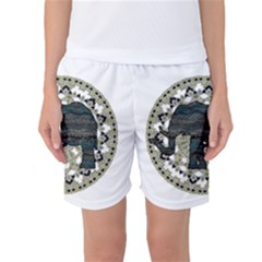 Ornate mandala elephant  Women s Basketball Shorts