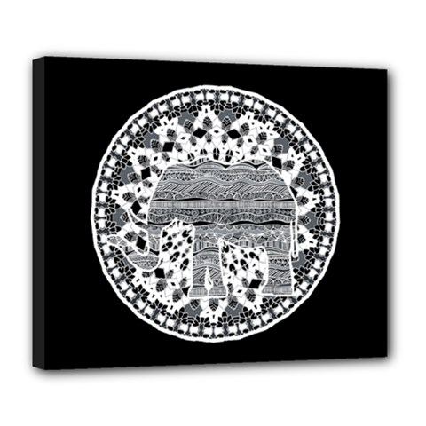 Ornate mandala elephant  Deluxe Canvas 24  x 20