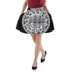 Ornate mandala elephant  A-Line Pocket Skirt