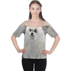Maltese 2 Women s Cutout Shoulder Tee