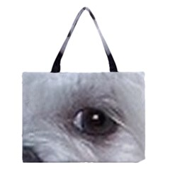 Maltese Eyes Medium Tote Bag