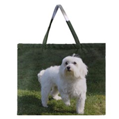 Maltese Full Zipper Large Tote Bag