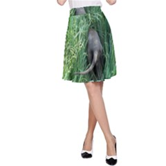 Weim In The Grass A-Line Skirt