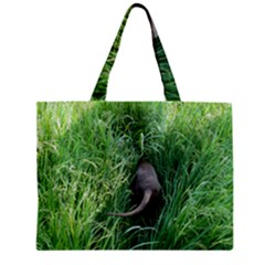 Weim In The Grass Zipper Mini Tote Bag