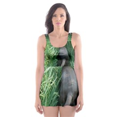 Weim In The Grass Skater Dress Swimsuit