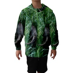 Weim In The Grass Hooded Wind Breaker (Kids)
