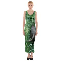 Weim In The Grass Fitted Maxi Dress