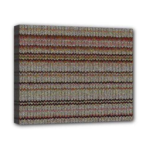 Stripy Knitted Wool Fabric Texture Canvas 10  x 8
