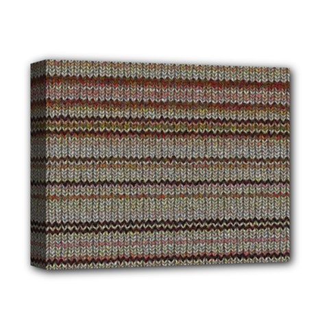 Stripy Knitted Wool Fabric Texture Deluxe Canvas 14  X 11