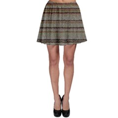 Stripy Knitted Wool Fabric Texture Skater Skirt