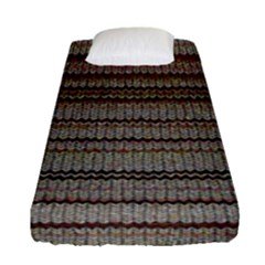 Stripy Knitted Wool Fabric Texture Fitted Sheet (single Size)
