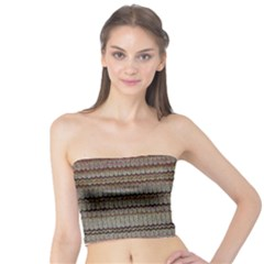 Stripy Knitted Wool Fabric Texture Tube Top
