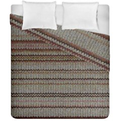Stripy Knitted Wool Fabric Texture Duvet Cover Double Side (california King Size)