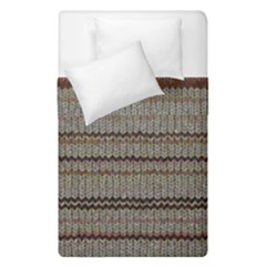 Stripy Knitted Wool Fabric Texture Duvet Cover Double Side (single Size)
