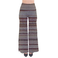 Stripy Knitted Wool Fabric Texture Pants