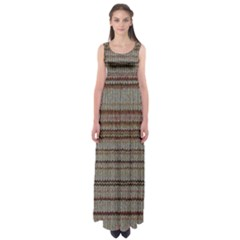 Stripy Knitted Wool Fabric Texture Empire Waist Maxi Dress