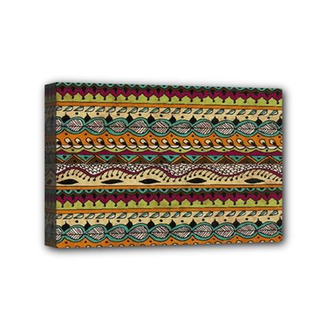 Aztec Pattern Mini Canvas 6  X 4