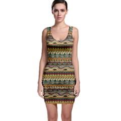 Aztec Pattern Sleeveless Bodycon Dress