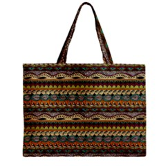 Aztec Pattern Zipper Mini Tote Bag
