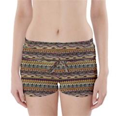 Aztec Pattern Boyleg Bikini Wrap Bottoms
