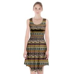 Aztec Pattern Racerback Midi Dress