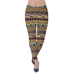 Aztec Pattern Velvet Leggings