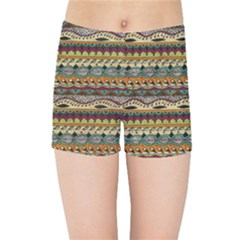 Aztec Pattern Kids Sports Shorts