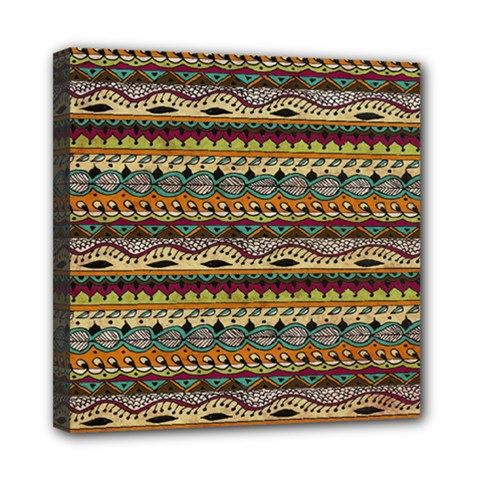Aztec Pattern Mini Canvas 8  x 8