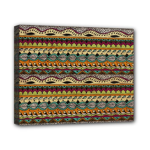 Aztec Pattern Canvas 10  x 8