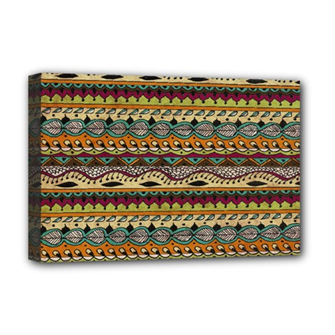 Aztec Pattern Deluxe Canvas 18  x 12