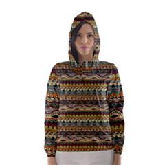 Aztec Pattern Hooded Wind Breaker (Women)