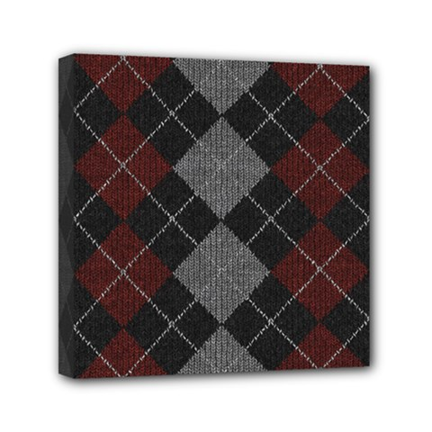 Wool Texture With Great Pattern Mini Canvas 6  x 6