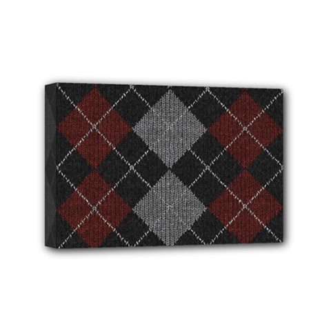 Wool Texture With Great Pattern Mini Canvas 6  X 4